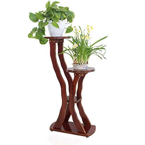 Support de fleurs en bois massif, utilisation extérieure intérieure d'intérieur d'assemblage d'échelle d'étagère de plantes de radis vert de pot de fleur