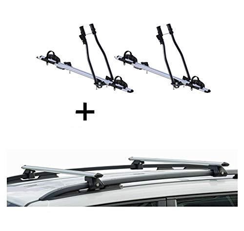 VDP 2X Fahrradträger SAGITTAR + Relingträger CRV135 kompatibel mit Hyundai ix35 10-15