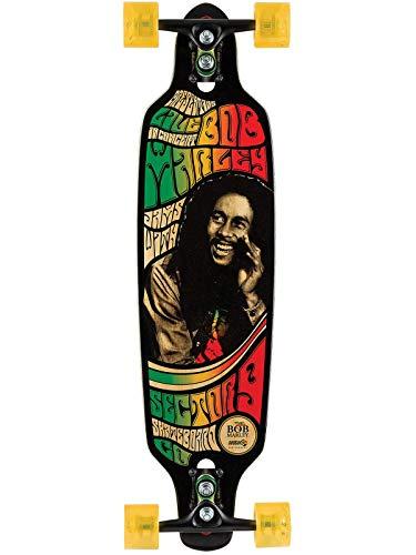 Sector 9 schwarz Bob Marley Series Rastaman - 34 Inch Drop Through Longboard komplett