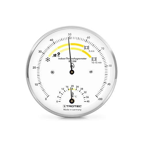 TROTEC BZ15M Thermohygrometer Thermometer Temperatur für ein gesundes Wohnklima in Innenräumen hochwertige Messmechanik Made in Germany