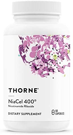 Thorne Research – NiaCel 400 – Supports Healthy Aging with Betaine Anhydrous and Nicotinamide Riboside – 60 Capsules – 400 mg (2 Months / 1 Bottle)