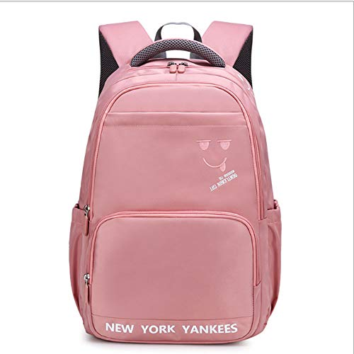 ZHAOYONGBING Children Backpack,Backpack For Kids,Checkered,Cute,Geometric,Water Resistant,Light Design,Large Capacity Backpack For Students,Kids Shoulder Bag. meat pink