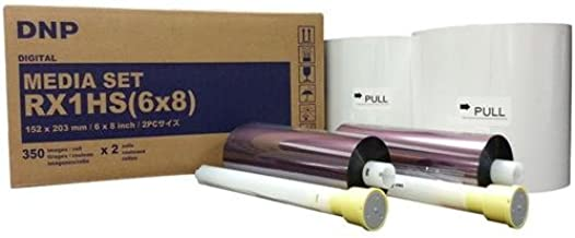 "DNP Print Media for DS-RX1HS High Speed Dye Sub Printer - 6x8"" 350 Prints Per Roll; 2 Rolls Per Case (700 Total Prints)"