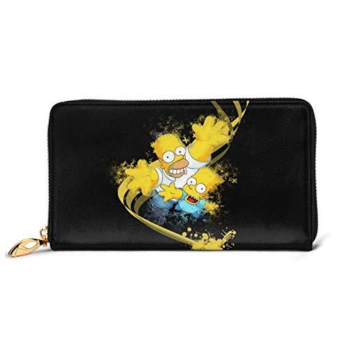 Anime Cartoon Simpsons Cartera larga Billfold Avanzada Impermeable Carteras Moda Moda Bolso para Zip alrededor de titular de la tarjeta grande Viaje bolso Clutch BagOne Size