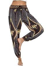 Doaraha dames hippie broek harembroek Boho patroon, baggy broek met zakken, losse vrijetijdsbroek yoga broek kleurrijke Indiase stijl, yoga pilates broek