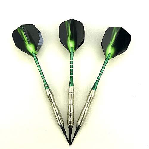 NKIE Einfach zu bedienen 3 Stück/Set von professionellen Abnäher 18g grün-Dart Aluminiumlegierung Dartspiel werfen Praktisch (Color : 01)