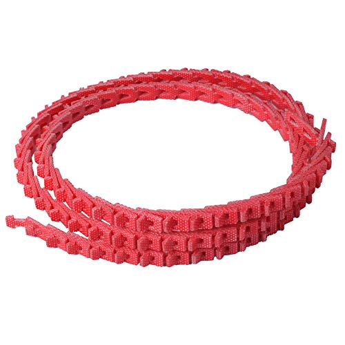 5FT Power Twist V-Belt 1/2-Inch x 5 Feet A Type, Adjustable Link V-Belt Perfect for Lathes, Table Saws and Other Woodworking Tools (Red)