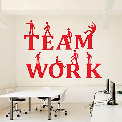 Calcomanías de pared de trabajo en equipo de oficina pegatinas de pared de recompensa de lugar de trabajo moderno pegatinas de decoración de sala de reuniones espíritu de trabajo en equipo 42 * 31 cm