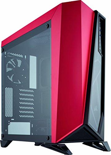 Corsair SPEC-OMEGA Mid-Tower-ATX-Gaming-Gehäuse (mit Sichtfenstern aus gehärtetem Glas) schwarz und rot