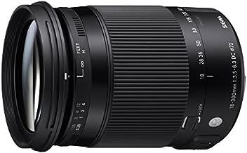 Sigma 886306 18-300mm F3.5-6.3 Contemporary DC Macro OS HSM Lens for Nikon, Black