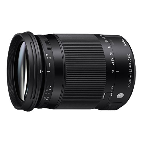 Sigma 886306 18-300mm F3.5-6.3 Contemporary DC Macro OS HSM Lens for Nikon, Black