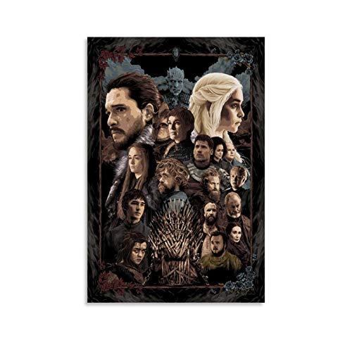 ZUNZUN Poster da parete con immagine di Game of Thrones, 30 x 45 cm