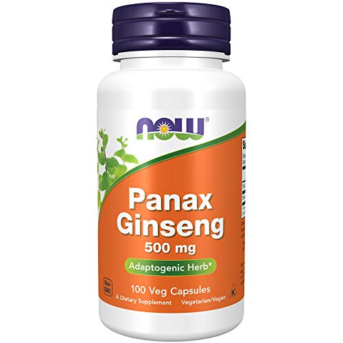 Now Foods Panax Ginseng, 500 Mg, 90 G, 100 Unidades