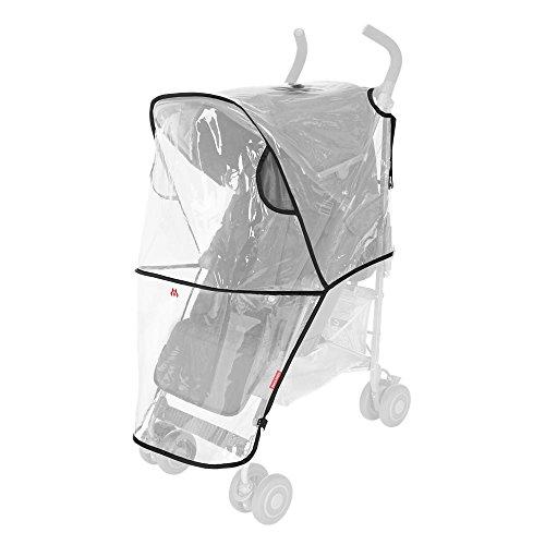 Maclaren Universele regenbescherming – beschermt tegen regen, wind en sneeuw. Kan snel en eenvoudig aan alle Maclaren-Buggys en alle paraplu-buggys van andere merken worden bevestigd. PVC-vrij.