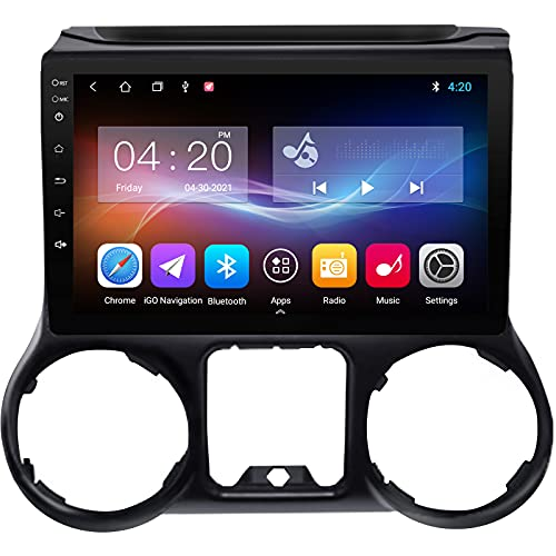 Android 10 Car Stereo Radio for Jeep Wrangler JK 2015 2016 2017,10.1'' IPS Touchscreen in Dash Navigation Support Carplay/Bluetooth/WiFi/SWC/Mirror Link/Backup Camera