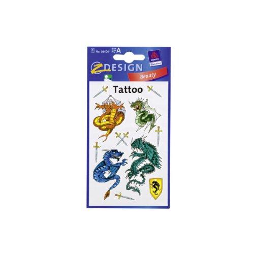 Tattoo draak gekleurd