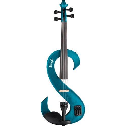 Stagg EVN 4/4 MBL E-Violine - Komplettset metallic-blau