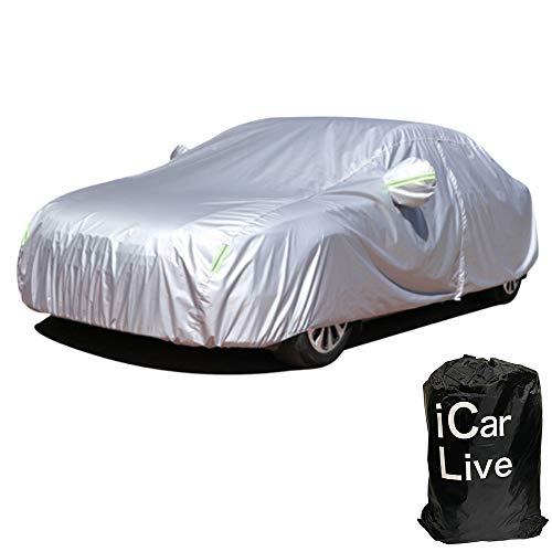 【1級製備士監修】iCar Live カーカバーボディカバー 車カバー 5層構造 裏起毛タイプ 雪 紫外線対策 雨 防...