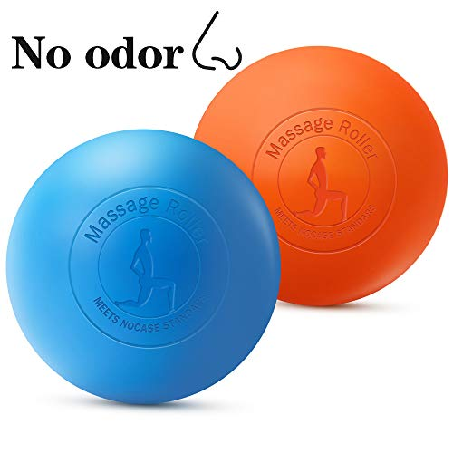 KOOLSEN Lacrosse Balls 2 Pack Massage Ball for Myofascial Release, Muscle Knots, Yoga and Trigger Point Therapy. 100% Solid Silica Gel Construction - 2 Firm Balls