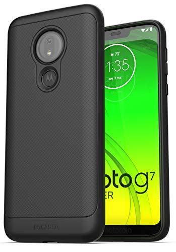 Capa de celular Encased Moto G7 Power (Thin Armor) Slim Fit Flexible Grip para Motorola G7 Power - Preta