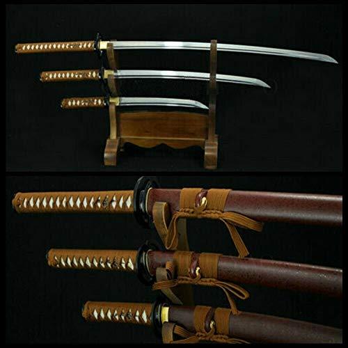 GLW Kanata Hand Forged Japanese Samurai Sword Set (Katana + WAKIZASHI +Tanto)