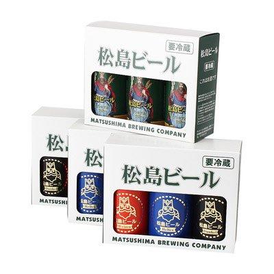 松島ビール(缶) 12本セット〔350ml×12本ヘレス、ヴァイツェン、デュンケル、ボック(各3本)〕