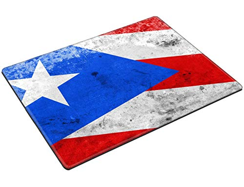 MSD Placemat Non Slip Natural Rubber Heat Resistance Table Mat Designed for 31045928 Puerto Rico Flag with a Vintage and Old Look