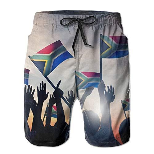 MrRui Zuid-Afrikaanse Heren/Jongens Casual Shorts Zwembroek Zwemkleding Elastische taille Beach Broek met Zakken
