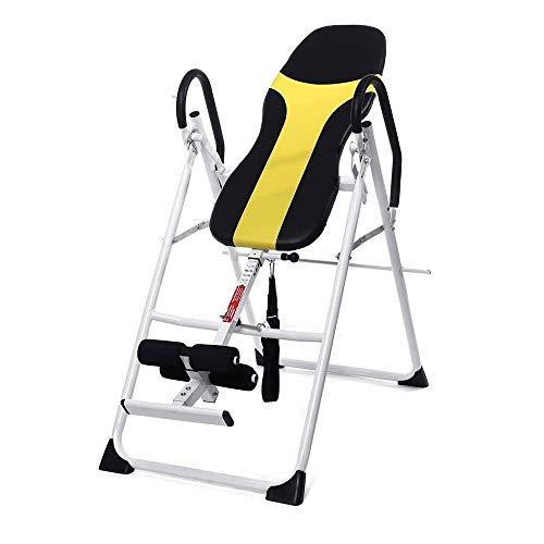 Inicio equipo de la aptitud, integrado Máquina pino, plegable y ajustable en altura superior gravedad Tabla de inversión Terapia Alinear banco for el Alivio del cuello dolor de espalda aptitud