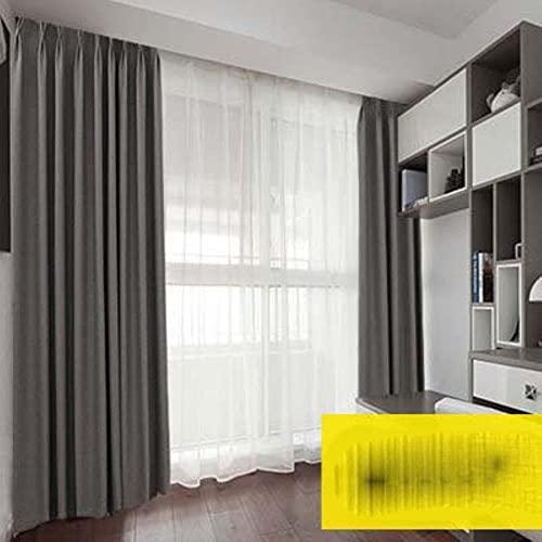 Cortina opaca gruesa para vivir, estilo moderno, 85% sombreado, cortina de color sólido, para ventana de cocina, hecha a medida, 13 gris, 200 x 245 cm, 1 unidad, bolsillo D