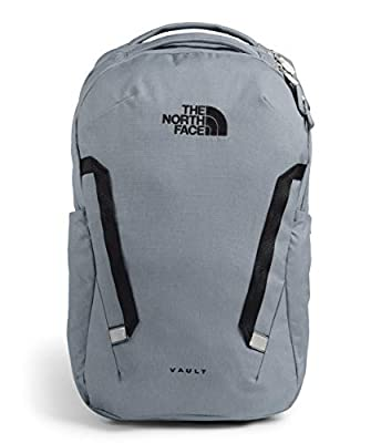 The North Face Vault Backpack Mid Grey Dark Heather/Tnf Black One Size