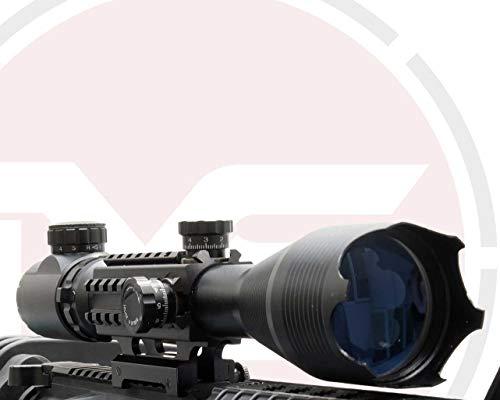 SUS MONUMENTOS 4-16x50 Alcance del rifle con Táctico Rieles para TEJEDOR Rieles