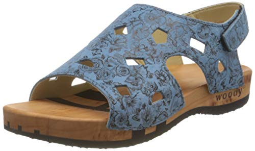 Woody Damen Carina Pantoletten, Blau (Capri 084), 37 EU