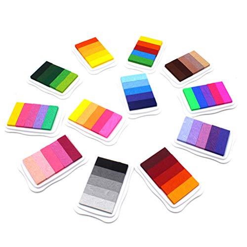 Toyvian Almohadilla de Tinta Artesanal Sellos Socio DIY Color Arte Dedo Almohadilla de Tinta