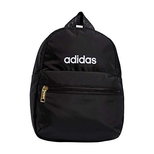 adidas Linear 2 Mini Mochila Pequeña Bolsa de Viaje Mini Mochila, Mujer, Mini mochila, 979020, Negro/Dorado metálico, Talla única