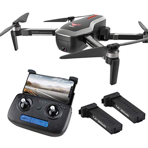 ZHCJH RC Drone Quadcopter, Drone GPS Plegable con cámara 4K HD para Adultos, 5G WiFi FPV Transmisión en Tiempo Real, 50 Minutos (25 + 25) Tiempo Vuelo con Maleta con una tecla Retorno