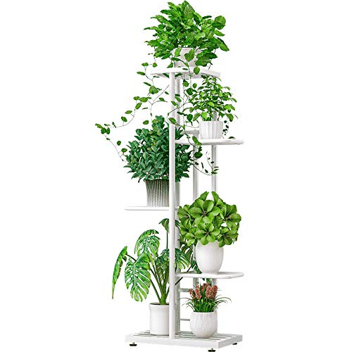 Galapara Metal Plant Stand Estantes de Flores, 5 Niveles Estante para macetas Soporte para Plantas...