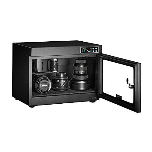 Armadio di deumidificazione e asciugatura della fotocamera, scatola a prova di umidità a risparmio energetico da 28 litri, custodia per apparecchiature elettroniche dell'obiettivo della fotocamer