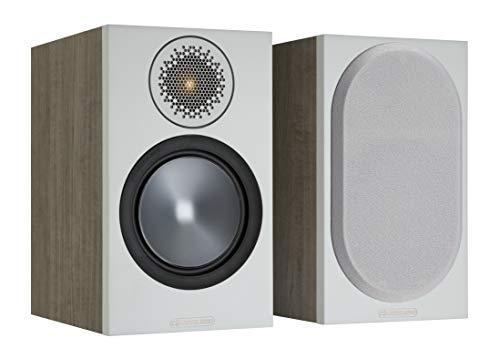 Monitor Audio Bronze 50 6G coppia di altoparlanti idelai per Stereo & Home Cinema a 2 vie 8 Ohm 80 Watt. Copertura magnetica, Bassreflex passivo Colore: grigio urbano