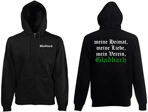 World of Shirt Herren Kapuzenjacke Gladbach Ultras Meine Heimat