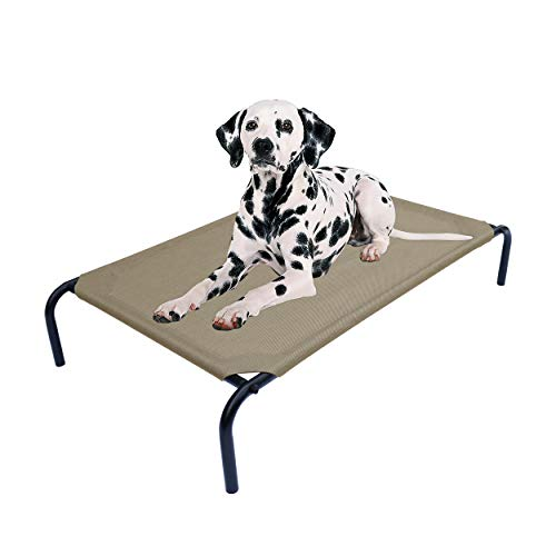 PHYEX Heavy Duty Steel-Framed Portable Elevated Pet Bed
