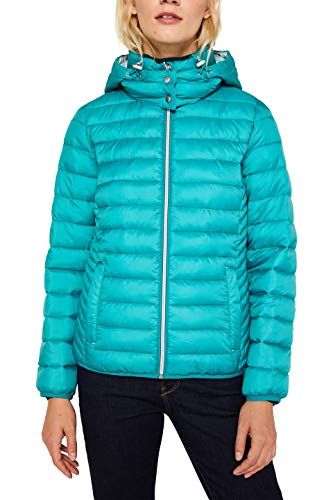 Esprit 129ee1g005 Chaqueta, Verde (Teal Green 370), X-Small para Mujer