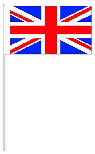 Lot de 10 drapeaux en papier - Motif drapeau du Royaume-Uni - Union Jack