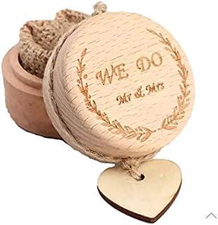 Ourwarm Cuty Small (5x5x4cm) Wooden Jewelry Ring Box