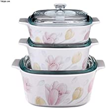 Corningware Glass Elegant City Casserole 6 Piece Set, White