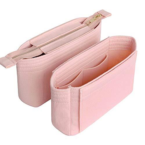Yoillione Organisateur de Sac a Main, Pochette Rangement Sac Interieur Rosa, Bag Organizer Petit Sac Organiseur Femme Purse Organizer, Packung mit 2 Stück