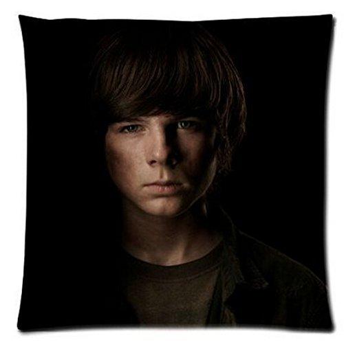 were The Walking Dead Carl Grimes Chandler Riggs Custom Zippered Pillow Case Cover Fundas para Almohada 16x16Inch(40cmx40cm)