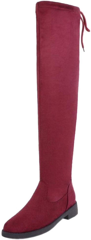 VulusValas Women Comfort Low Heel Stretch Boots
