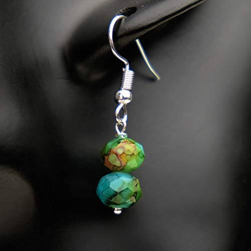 Ohrringe LUCKY CHARM Glasperlen antik hängend handmade einzigartig Damen Mädchen Schmuck Design...