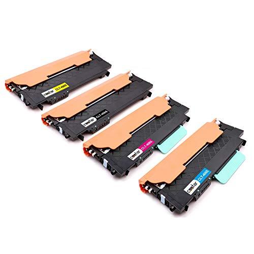 CSSTAR Kompatibel Toner Ersatz für Samsung 406 CLT-K406S CLT-C406S CLT-M406S CLT-Y406S für Xpress CLX-3305 CLX-3305FW CLP-360 CLP-365 CLP-365W C410W C460W C460FW Drucker, Schwarz Cyan Magenta Gelb